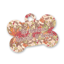 Thankful & Blessed Bone Shaped Dog Tag (Personalized)