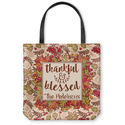Thankful & Blessed Canvas Tote Bag (Personalized)