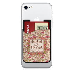 Thankful & Blessed 2-in-1 Cell Phone Credit Card Holder & Screen Cleaner (Personalized)
