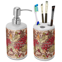 Thankful & Blessed Ceramic Bathroom Accessories Set (Personalized)