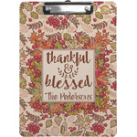 Thankful & Blessed Clipboard (Personalized)