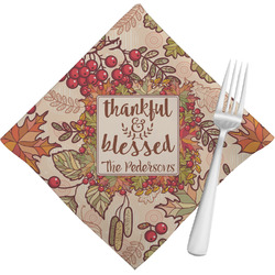 Thankful & Blessed Cloth Napkins (Set of 4) (Personalized)