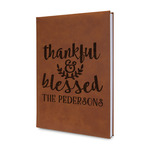 Thankful & Blessed Leatherette Journal (Personalized)
