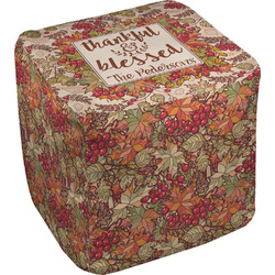 Thankful & Blessed Cube Pouf Ottoman (Personalized)