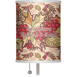 """Thankful & Blessed 7"""" Drum Lamp Shade (Personalized)"""