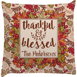 Thankful & Blessed Decorative Pillow Case (Personalized)
