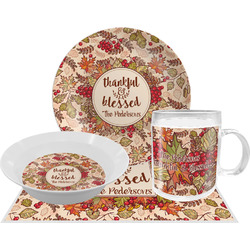 Thankful & Blessed Dinner Set - 4 Pc (Personalized)