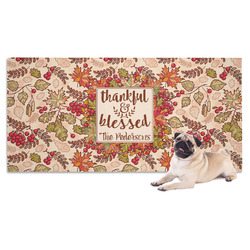 Thankful & Blessed Dog Towel (Personalized)