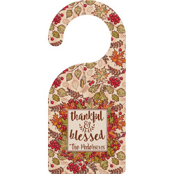 Thankful & Blessed Door Hanger (Personalized)