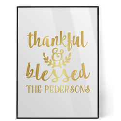 Thankful & Blessed Foil Print (Personalized)