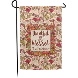 Thankful & Blessed Garden Flag - Single or Double Sided (Personalized)