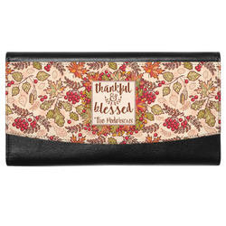 Thankful & Blessed Genuine Leather Ladies Wallet (Personalized)