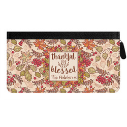 Thankful & Blessed Genuine Leather Ladies Zippered Wallet (Personalized)