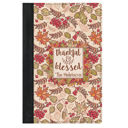 Thankful & Blessed Genuine Leather Passport Cover (Personalized)