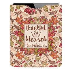 Thankful & Blessed Genuine Leather iPad Sleeve (Personalized)