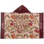 Thankful & Blessed Kids Hooded Towel (Personalized)
