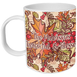 Thankful & Blessed Plastic Kids Mug (Personalized)