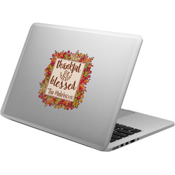 Thankful & Blessed Laptop Decal (Personalized)