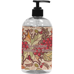 Thankful & Blessed Plastic Soap / Lotion Dispenser (Personalized)