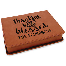 Thankful & Blessed Leatherette 4-Piece Wine Tool Set (Personalized)