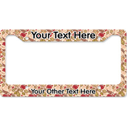 Thankful & Blessed License Plate Frame (Personalized)