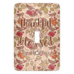 Thankful & Blessed Light Switch Covers (Personalized)