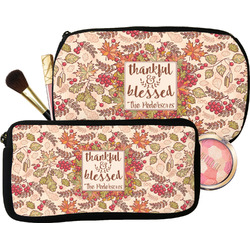 Thankful & Blessed Makeup / Cosmetic Bag (Personalized)