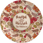 Thankful & Blessed Melamine Plate (Personalized)