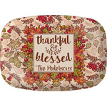 Thankful & Blessed Melamine Platter (Personalized)