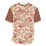 Thankful & Blessed Men's Crew T-Shirt (Personalized)