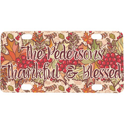 Thankful & Blessed Mini / Bicycle License Plate (Personalized)