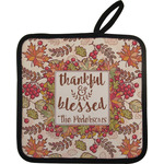 Thankful & Blessed Pot Holder w/ Name or Text