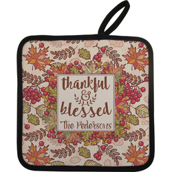Thankful & Blessed Pot Holder (Personalized)