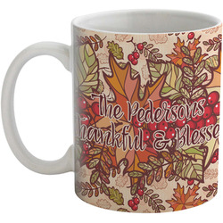 Thankful & Blessed Coffee Mug (Personalized)