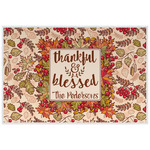Thankful & Blessed Placemat (Laminated) (Personalized)