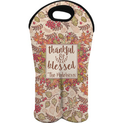 Thankful & Blessed Wine Tote Bag (2 Bottles) (Personalized)