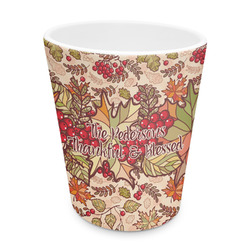 Thankful & Blessed Plastic Tumbler 6oz (Personalized)