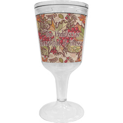 Thankful & Blessed Wine Tumbler - 11 oz Plastic (Personalized)