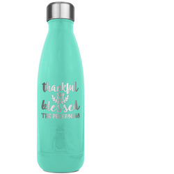 Thanksgiving Quotes and Sayings RTIC Bottle - Teal (Personalized)