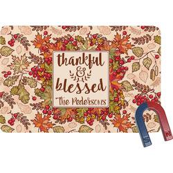 Thankful & Blessed Rectangular Fridge Magnet (Personalized)