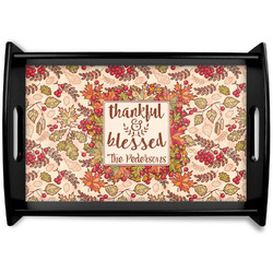 Thankful & Blessed Wooden Trays (Personalized)