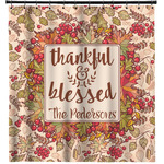 Thankful & Blessed Shower Curtain (Personalized)