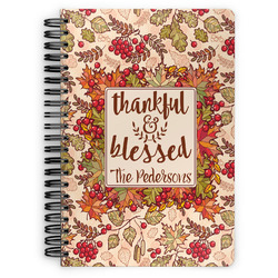 Thankful & Blessed Spiral Bound Notebook (Personalized)