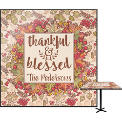 Thankful & Blessed Square Table Top (Personalized)
