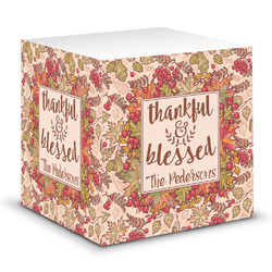 Thankful & Blessed Sticky Note Cube (Personalized)
