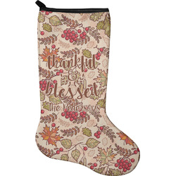 Thankful & Blessed Christmas Stocking - Neoprene (Personalized)