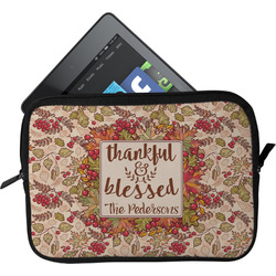Thankful & Blessed Tablet Case / Sleeve (Personalized)