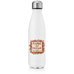 Thankful & Blessed Tapered Water Bottle - 17 oz. - Stainless Steel (Personalized)