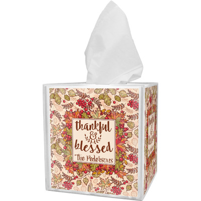 Thankful & Blessed Tissue Box Cover (Personalized)