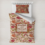 Thankful & Blessed Toddler Bedding w/ Name or Text
